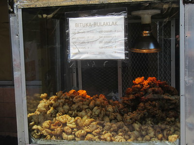 020_Manila  La Loma District  Restaurants serves chicharrones, of friend pork rinds