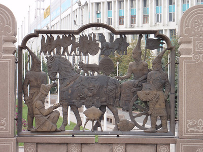 19_Almaty  Bas-relief walls depicting scenes from Kazakhstan s history
