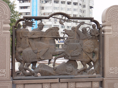 23_Almaty  Bas-relief walls depicting scenes from Kazakhstan s history