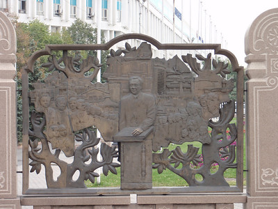 29_Almaty  Bas-relief walls depicting scenes from Kazakhstan s history