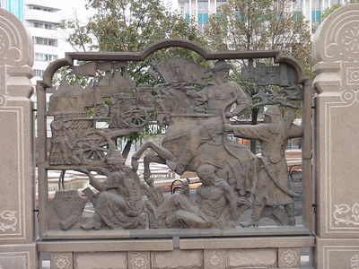 26_Almaty  Bas-relief walls depicting scenes from Kazakhstan s history