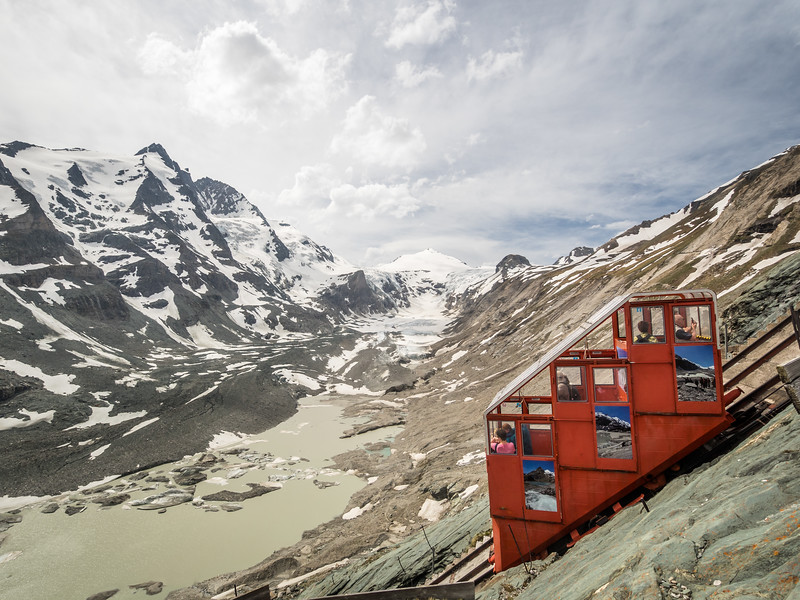 The Old-Fashioned Mountain Tram and the Großglockner, Austria