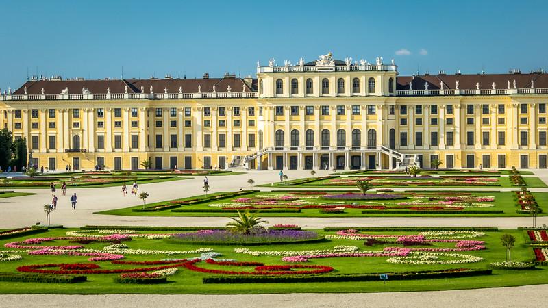 Colorful Gardens and Palace, Schönbrunn, Vienna