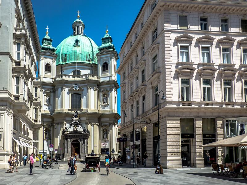 Going to Peterskirche, Vienna, Austria