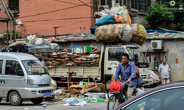 Side street recycling in Beijing