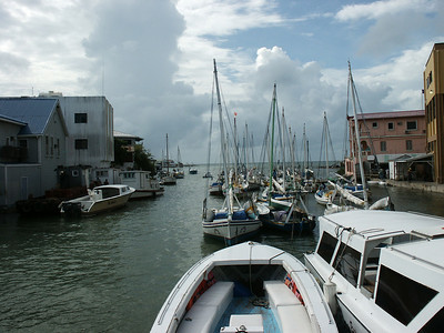 View from the swing bridge Belize City