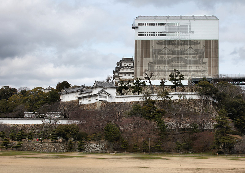 Himeji Castle, under wraps
