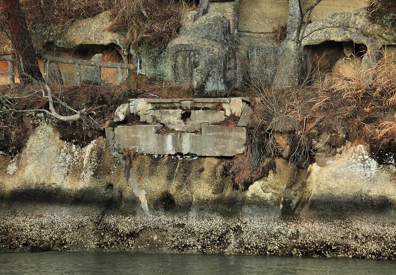 The remains of the foot bridge. Matsushima