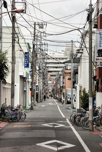 Typicial residential side-street, Minami-Senjyu