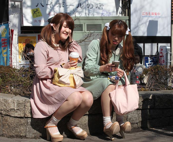 Harajuku girls, with matching shoes