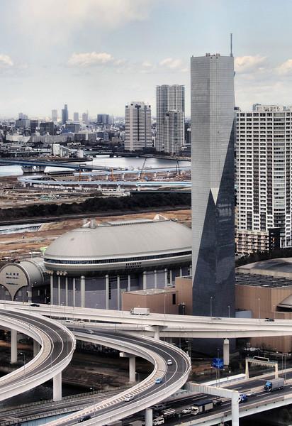 View from Odaiba ferris wheel