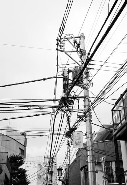 A typical residential telegraph pole