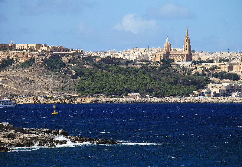 View across to Gozo