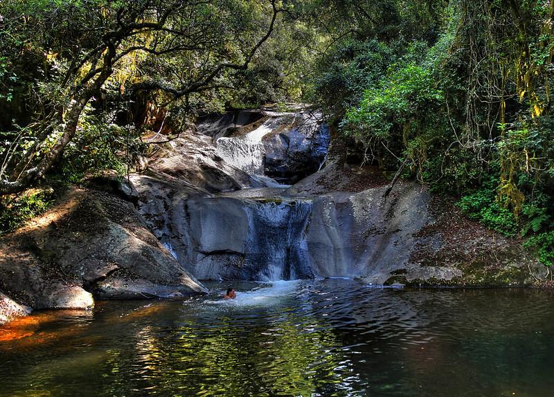The hotel pool. Dokolewa Waterfalls Trail. Magoebaskloof Mountains
