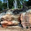 Veczemju cliffs, all of eight feet high
