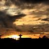 Sunset near Calais