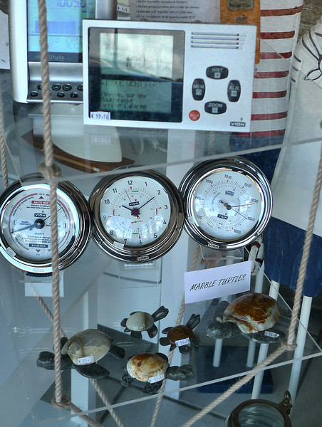 This shop at the marina has all your yachting needs. GPS systems, ships compasses, and marble turtles!