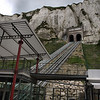 The funicular, to the top of the Le Trport cliffs