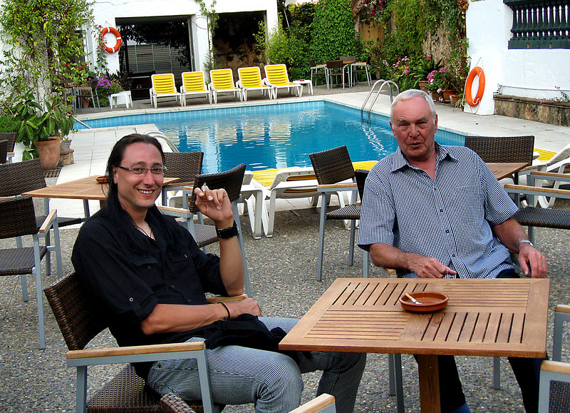 Me and John2 by the pool