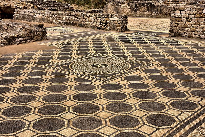 2,000 year old mosaic floor at Empuries