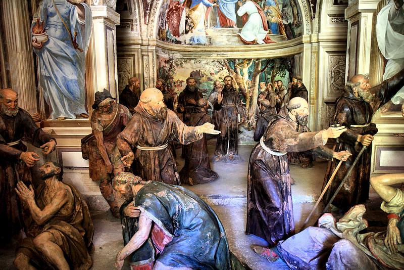 17th c statues, Sacra Monte, Lake Orta
