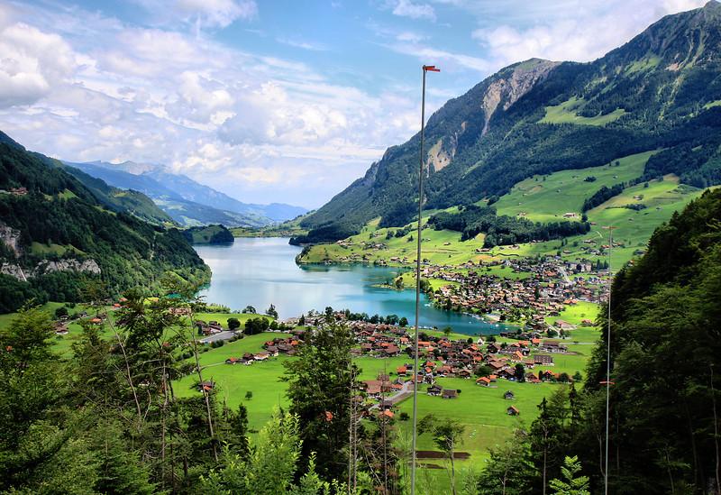 Giswil and lake Sarner-See