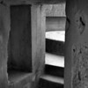 Inside a gun battery bunker