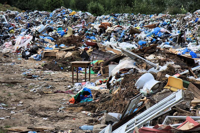 Bialowieza village rubbish dump
