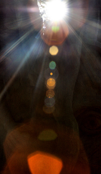 Random abstract lens flare