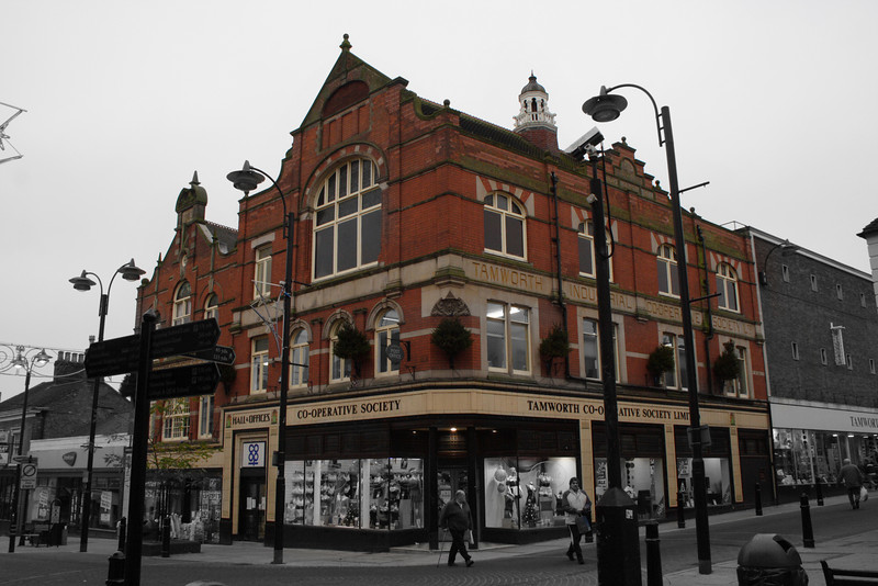 Cooperative Building,<br /> corner of Colehill, Lower Gungate and Church St