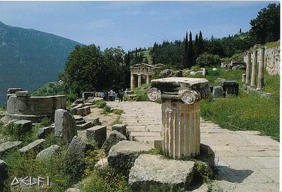 009_Delphi_Athenian_Treasury_5th_BC_and_the_Sacred_Way