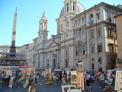 0009_Piazza_Navona_Facade_Baroque_de_San_Agnese_in_Agone