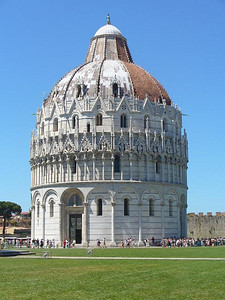 0808_Pisa_The_Baptistery_Lower_part_is_Roman_Style_1063