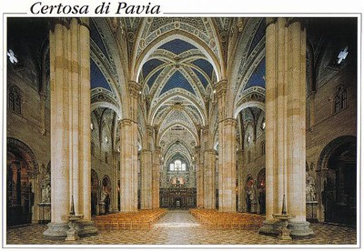 0751_Certosa_di_Pavia_Inside_with_the_Central_span_aisle