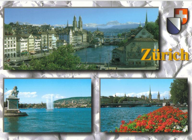 024_Zurich_Limmatquai_Grossmunster_and_the_Alps