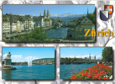 024_Zurich_Limmatquai_Grossmunster_and_the_Alps