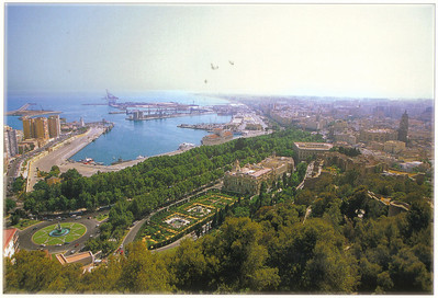 006_Malaga  City View and Port  Second biggest city of Andalusia