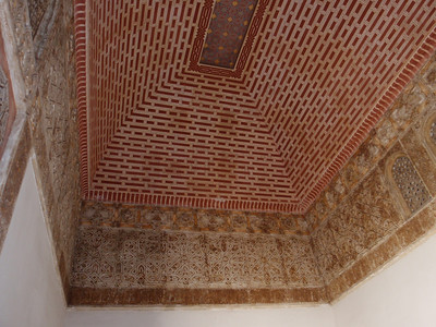 042_Alcazaba  Patio de la Alberca  Ceiling and Stuc Ornamentation
