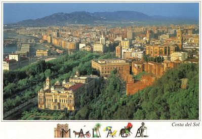 005_Malaga  Panoramic View and the Gilbralfara Castle
