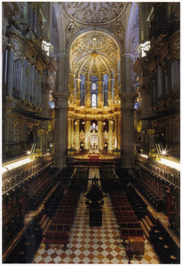 060_Cathedral central nave  Foreground, the choir  1528-1765