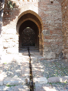 022_Alcazaba  Puerta de los Cuartos de Granada  Rainwater Canal