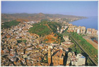 004_Malaga  The Cathedral, the Alcazaba and Gibralfaro Castle