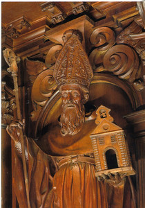 063_Choir-stalls  Saint Augustine of Hippo, mahogany, 17th  C