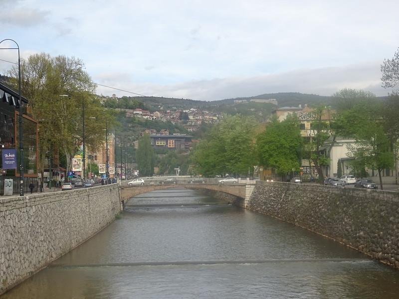 10_Sarajevo  River Miljacka flows through the city