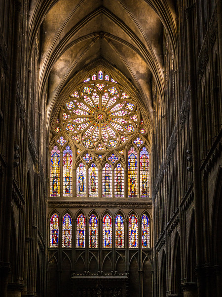 Rear Window, Metz Cathedral, France