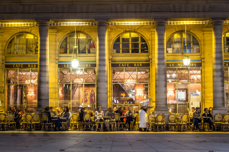 Evening Café, Paris, France