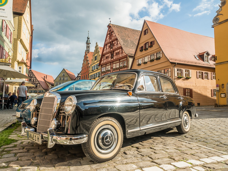 Classic Mercedes on the Street, Dinkelsbühl, Germany