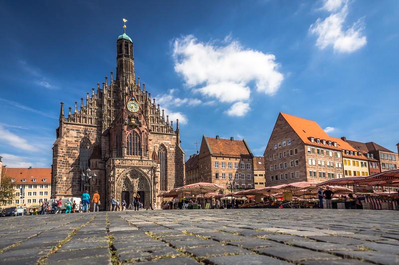 Church and Market, Nürnberg, Germany