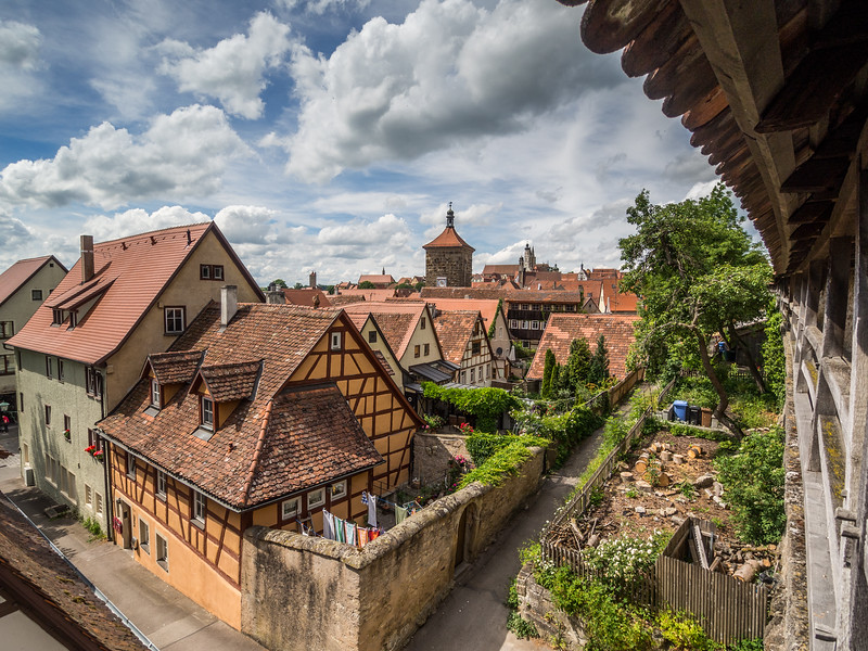 Along the Old Wall, Rothenburg, Germany