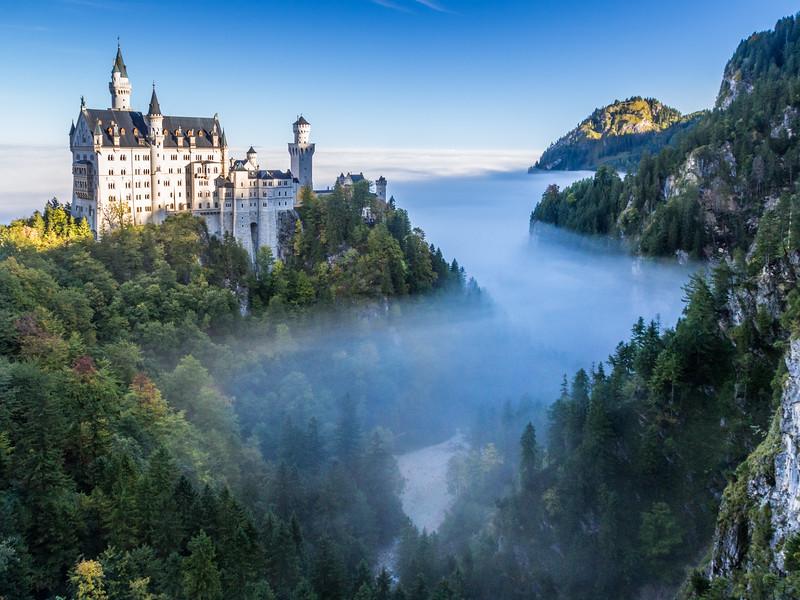 Neuschwanstein Above the Fog, Germany